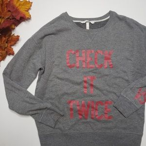 Victoria's Secret Gray Christmas Sweatshirt